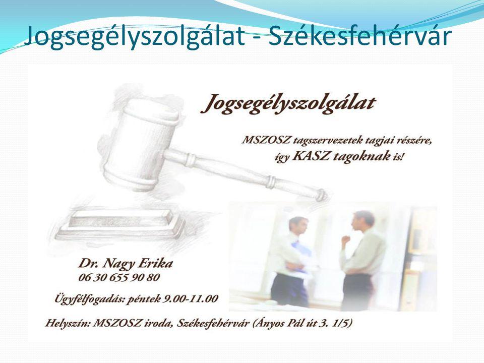Jogsegélyszolgálat - Szolnok  Dr.Szegedi Károly  5000 Szolnok Szapáry krt.