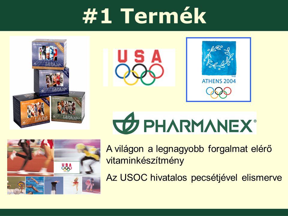 #1 Termék A világon a legnagyobb forgalmat elérő vitaminkészítmény Az USOC hivatalos pecsétjével elismerve