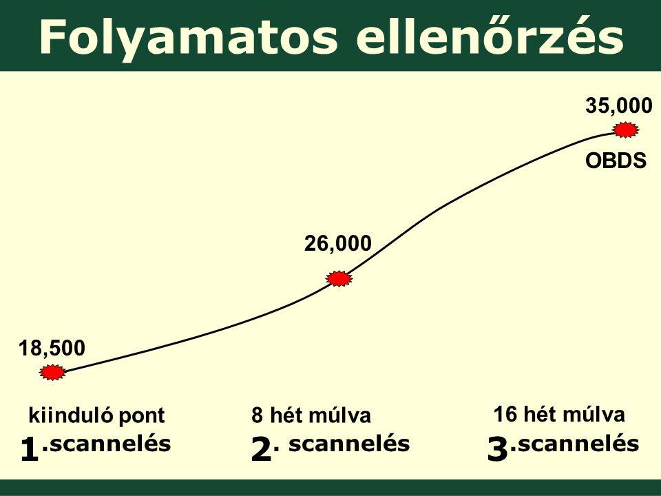 Folyamatos ellenőrzés 1.scannelés 2.
