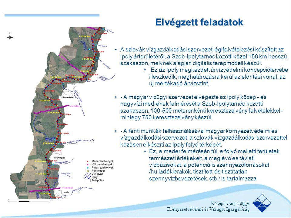 •A szlovák vízgazdálkodási szervezet légifelvételezést készített az Ipoly árterületéről, a Szob-Ipolytarnóc közötti közel 150 km hosszú szakaszon, mel