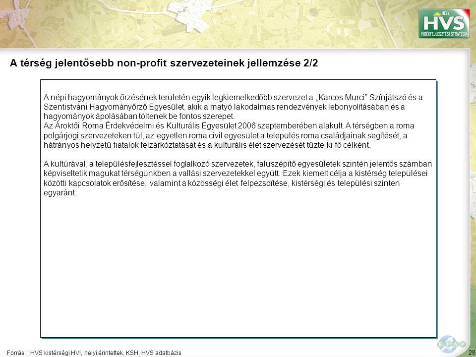 """28 A népi hagyományok őrzésének területén egyik legkiemelkedőbb szervezet a """"Karcos Murci Színjátszó és a Szentistváni Hagyományőrző Egyesület, akik a matyó lakodalmas rendezvények lebonyolításában és a hagyományok ápolásában töltenek be fontos szerepet."""