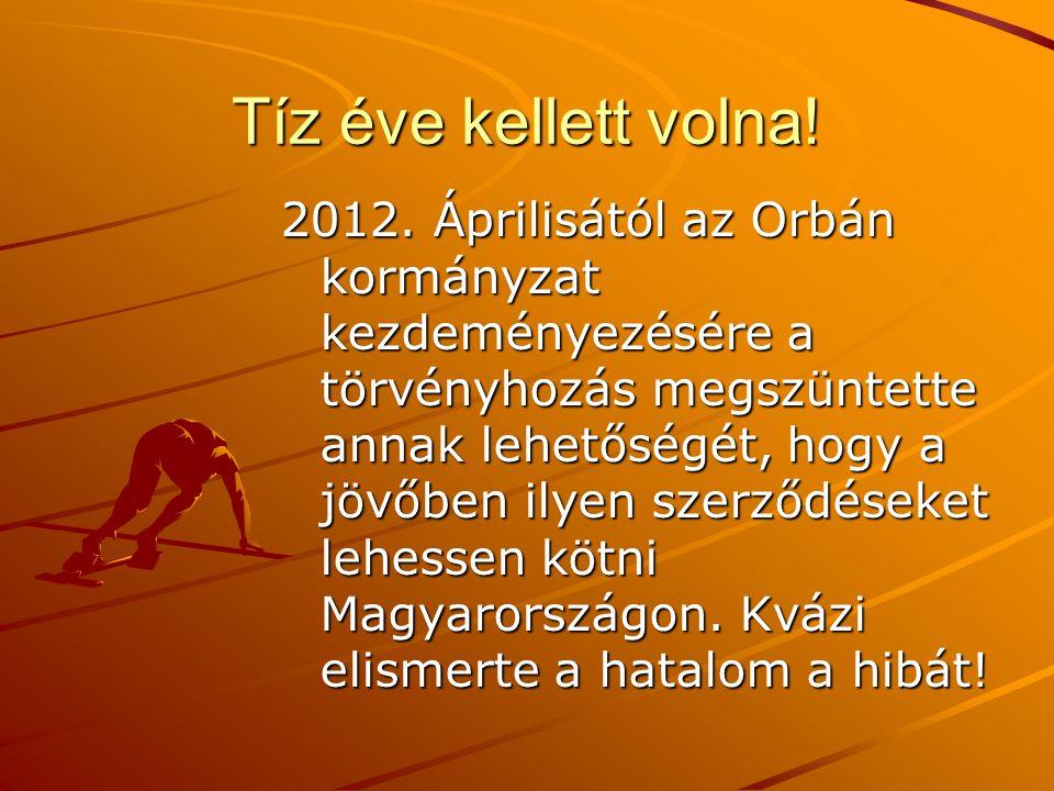 Tíz éve kellett volna! 2012. Áprilisától az Orbán kormányzat kezdeményezésére a törvényhozás megszüntette annak lehetőségét, hogy a jövőben ilyen szer