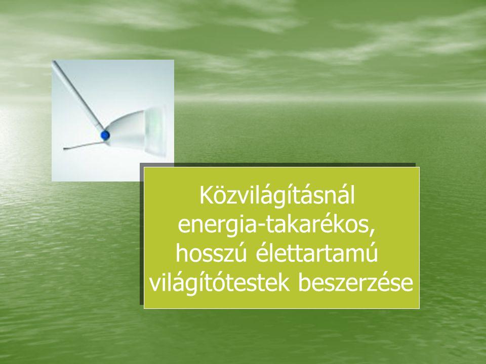 Közvilágításnál energia-takarékos, hosszú élettartamú világítótestek beszerzése Közvilágításnál energia-takarékos, hosszú élettartamú világítótestek b