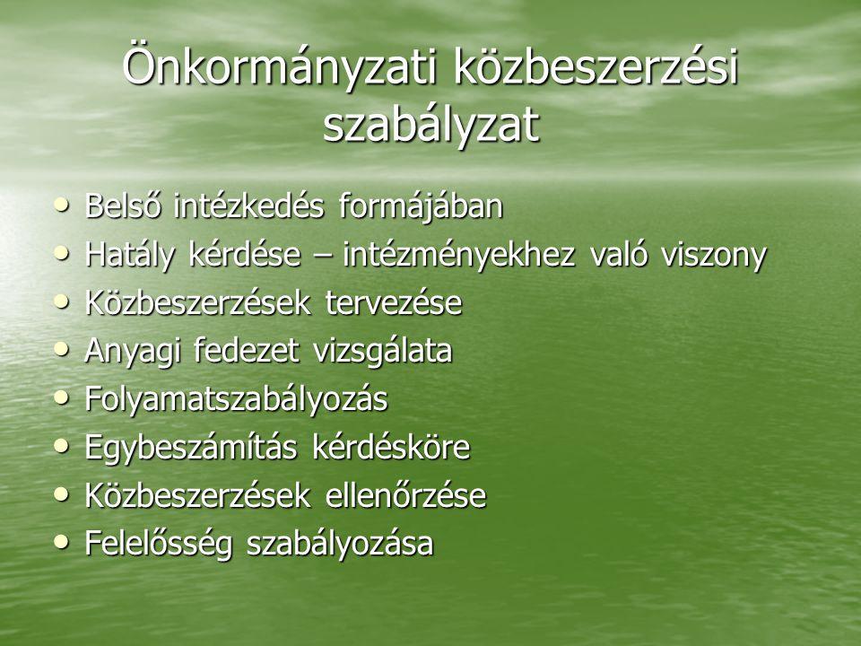 Fővárosi Önkormányzat közbeszerzéseinek folyamata - az eljárás lefolytatója - • Főszabályként: Közbeszerzési Ügyosztály 2005.