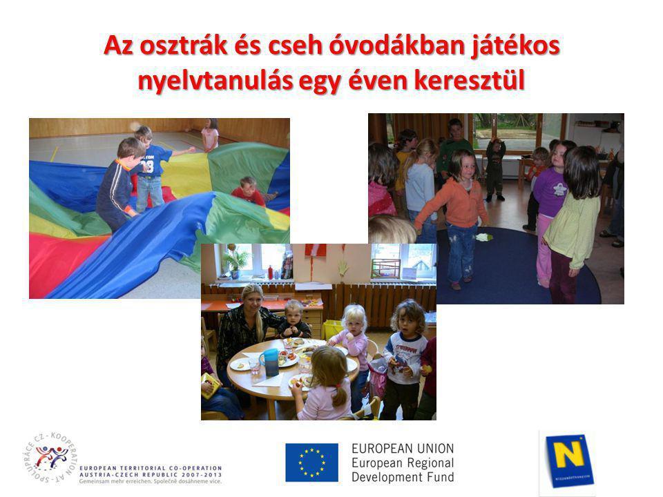 Az osztrák és cseh óvodákban játékos nyelvtanulás egy éven keresztül