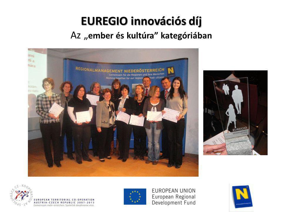"""EUREGIO innovációs díj EUREGIO innovációs díj Az """" ember és kultúra kategóriában"""