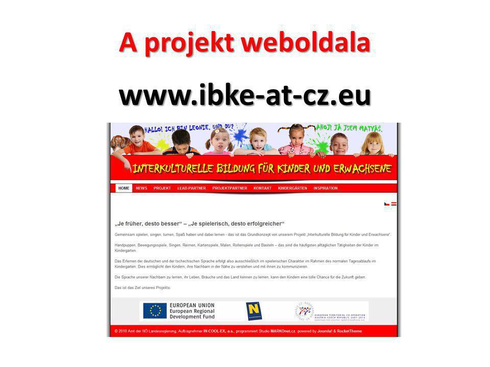 A projekt weboldala www.ibke-at-cz.eu