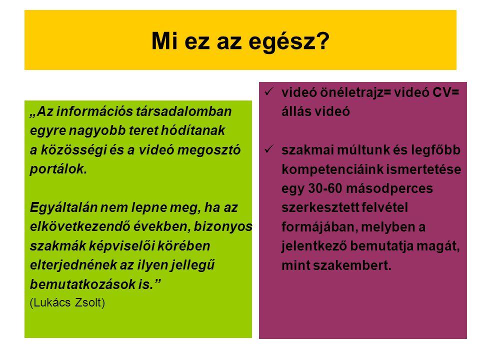 Hagyományos vagy videó CV.