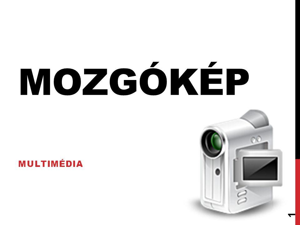 VIDEOFÁJL-FORMÁTUMOK M-JPEG Az M-JPEG (Motion JPEG) a JPEG formátumban tömörített képkockák sorozatára épül, tehát minden különálló képet JPEG- gel tömörítünk.