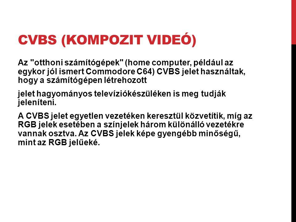 CVBS (KOMPOZIT VIDEÓ) Az
