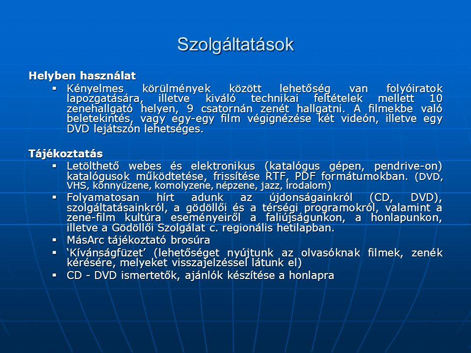 Szolgáltatások Letölthető webes katalógusok