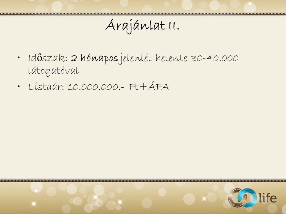 Árajánlat II.
