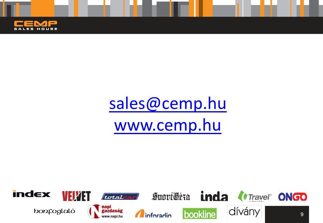 sales@cemp.hu www.cemp.hu 9