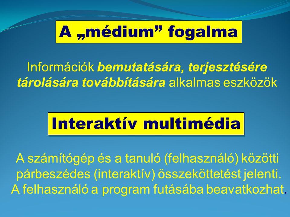 legyen rövid, lényegre törő, jól olvasható (betűtípus, betűméret), ne használjunk háromnál több betűtípust helyes sortávolság szöveg kiemelése: színek, betűtípus és méret, háttér szöveg mozgása animálása Multimédia elemek II.