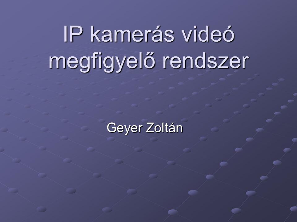 IP kamerás videó megfigyelő rendszer Geyer Zoltán