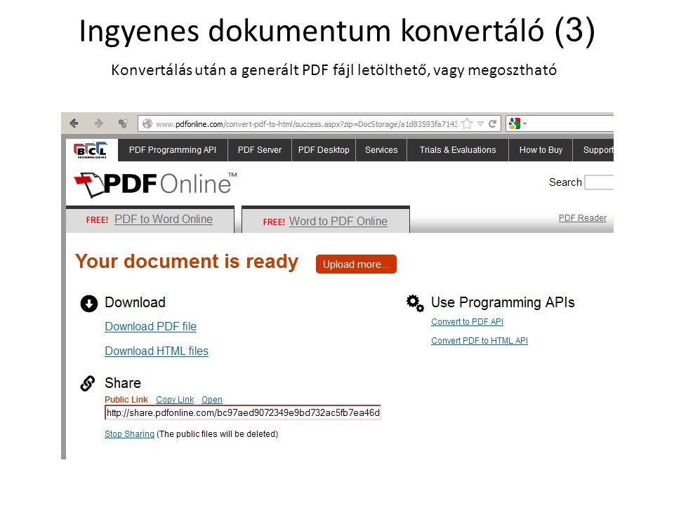 Ingyenes online dokumentummegosztó (1) Honlapokba beágyazható PowerPoint és PDF lehetőség