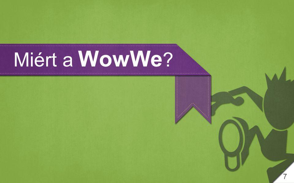 8 A WowWe 2007-TŐL az online kommunikációs eszközök egyik VEZETŐJÉVÉ VÁLT.