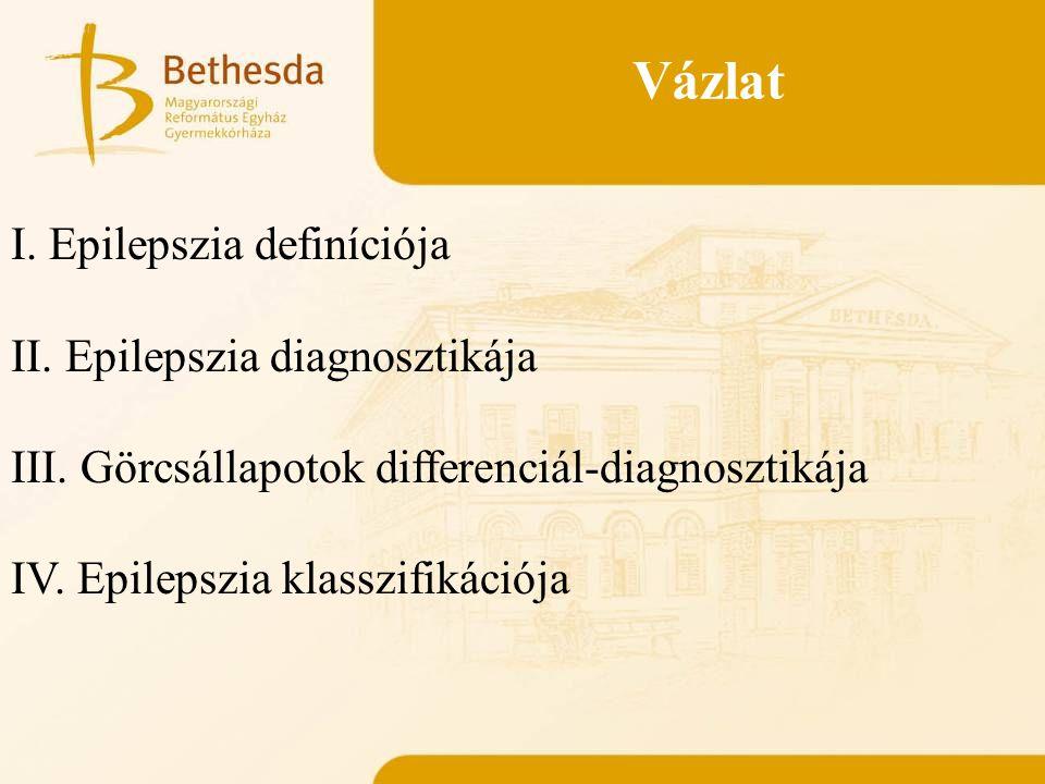 Vázlat I.Epilepszia definíciója II. Epilepszia diagnosztikája III.