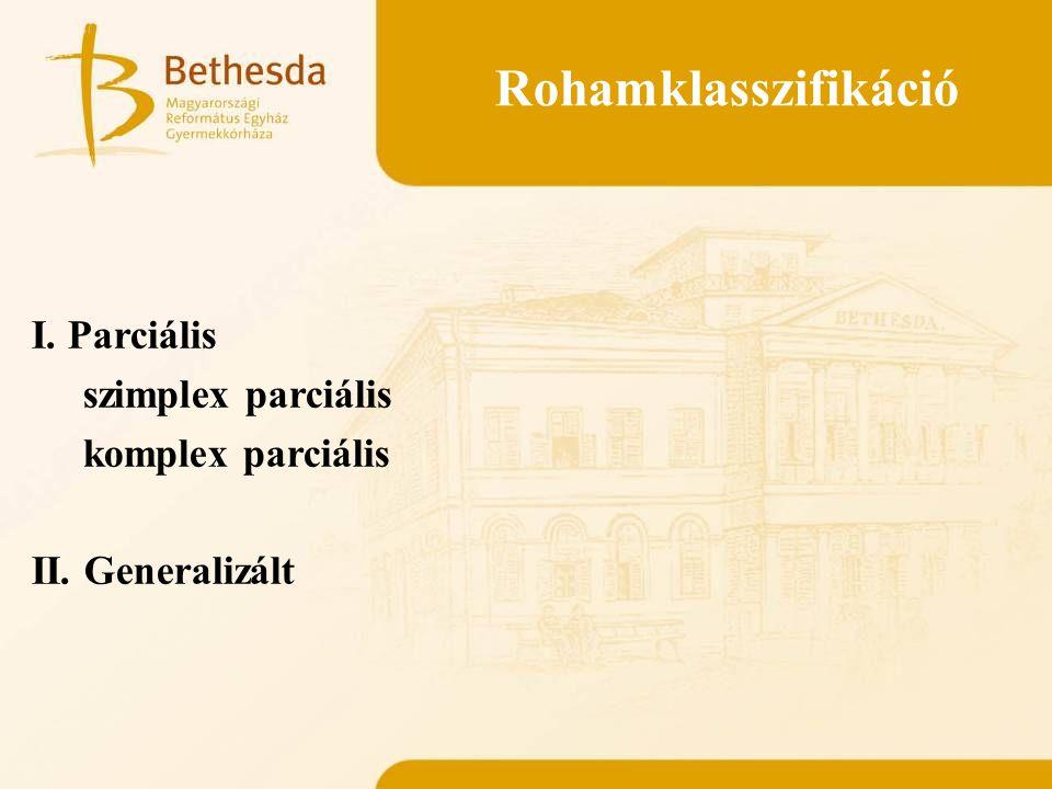 Rohamklasszifikáció I. Parciális szimplex parciális komplex parciális II. Generalizált