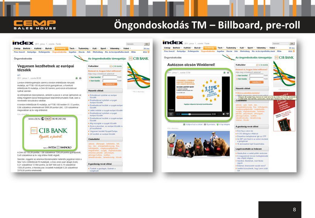 Öngondoskodás TM – Billboard, pre-roll 8