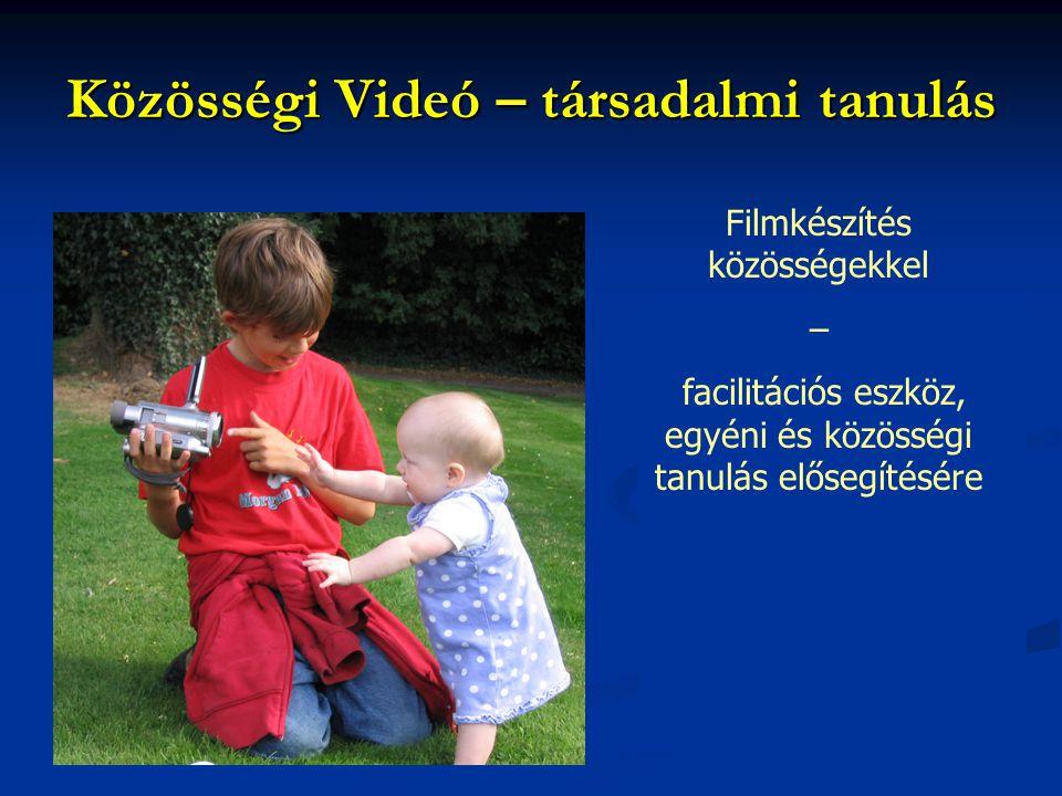 Közösségi Videó – társadalmi tanulás Filmkészítés közösségekkel – facilitációs eszköz, egyéni és közösségi tanulás elősegítésére