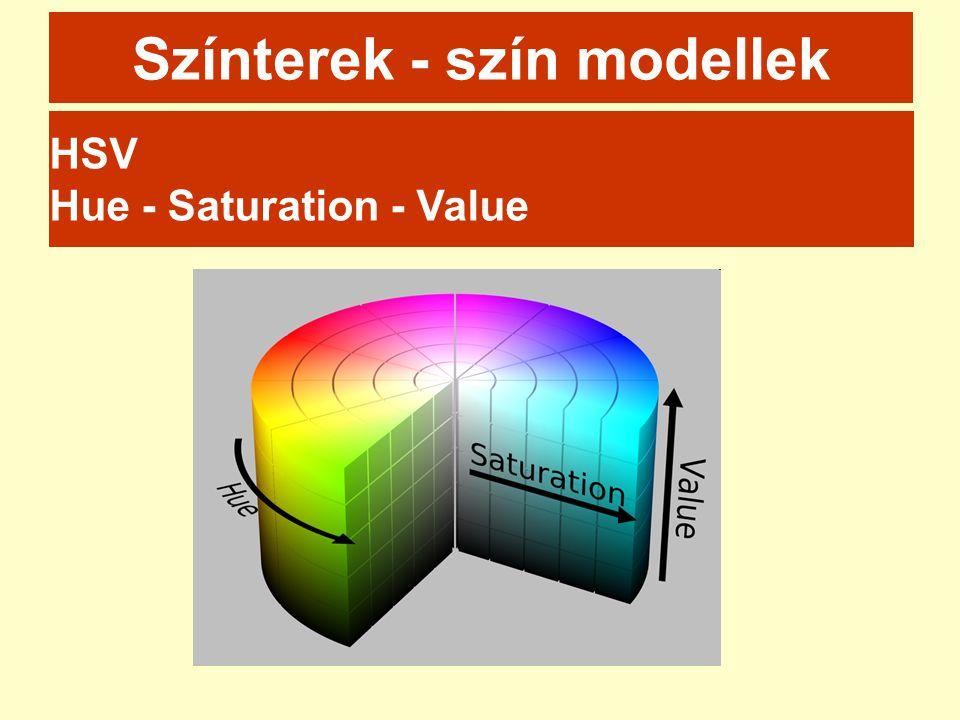 Színterek - szín modellek