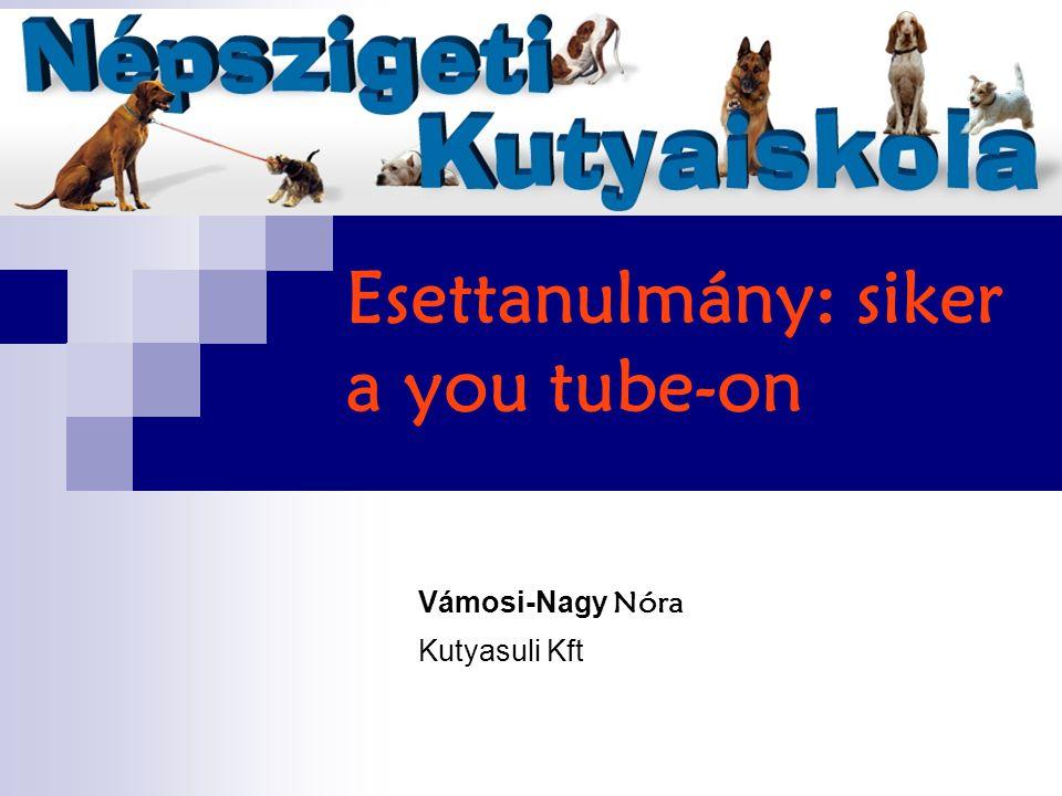 Esettanulmány: siker a you tube-on Vámosi-Nagy Nóra Kutyasuli Kft