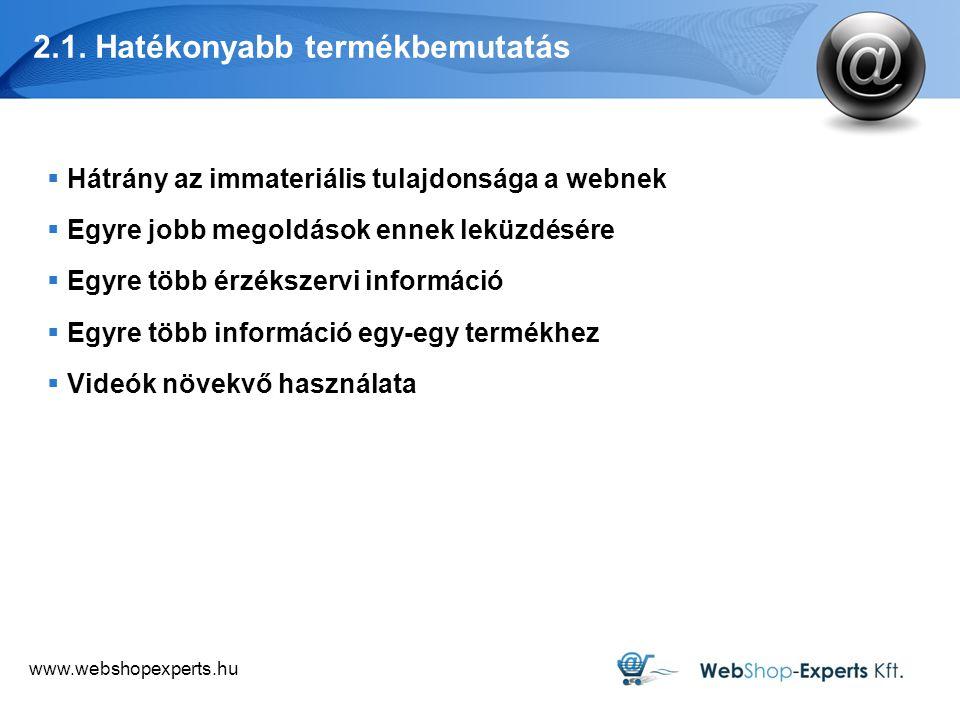 www.webshopexperts.hu 2.1. Hatékonyabb termékbemutatás Ae.com Knickerpicker.com