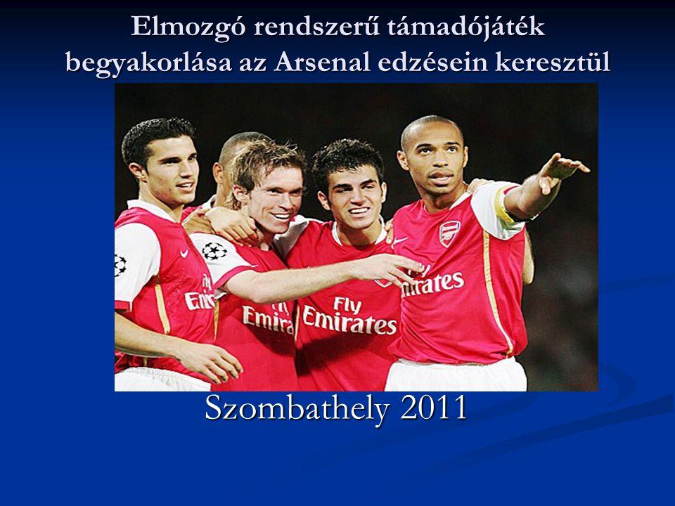 Elmozgó rendszerű támadójáték begyakorlása az Arsenal edzésein keresztül Szombathely 2011