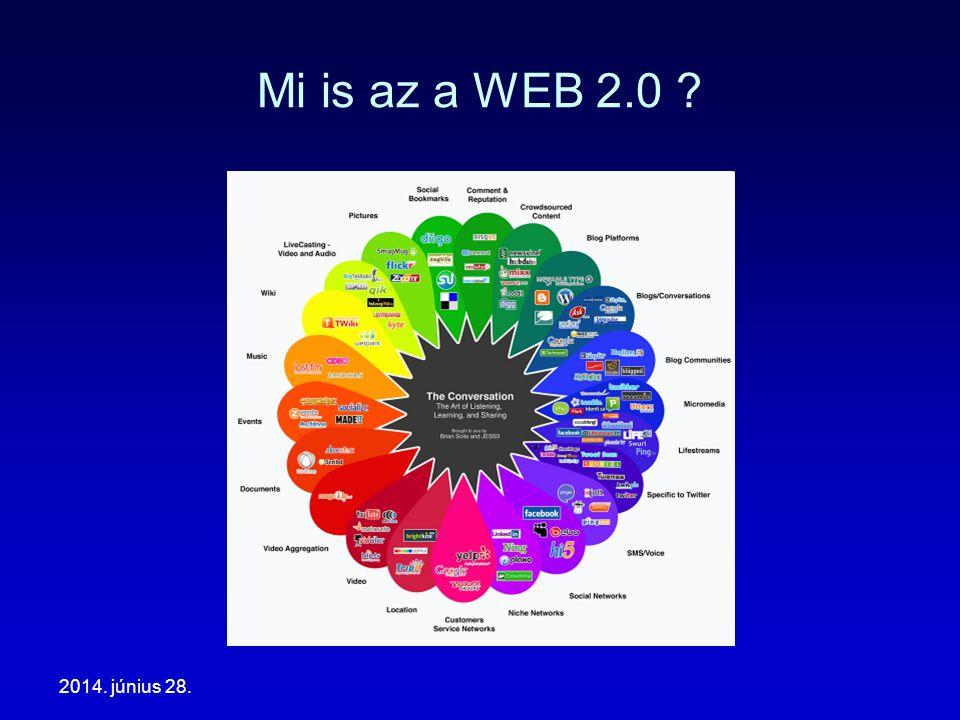 2014. június 28. Mi is az a WEB 2.0