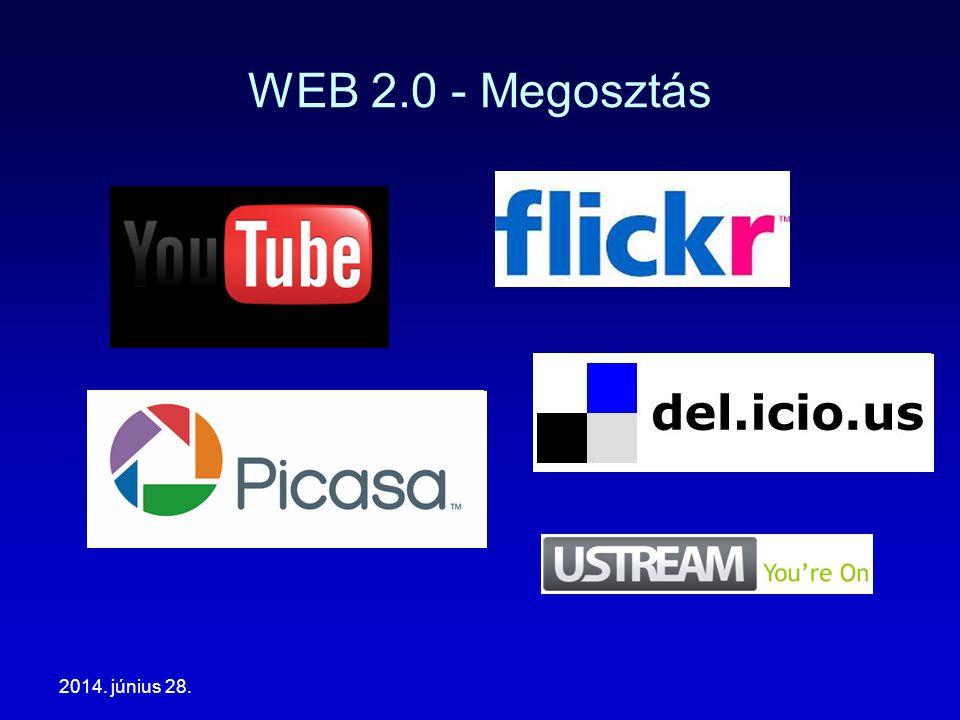 2014. június 28. WEB 2.0 - Megosztás