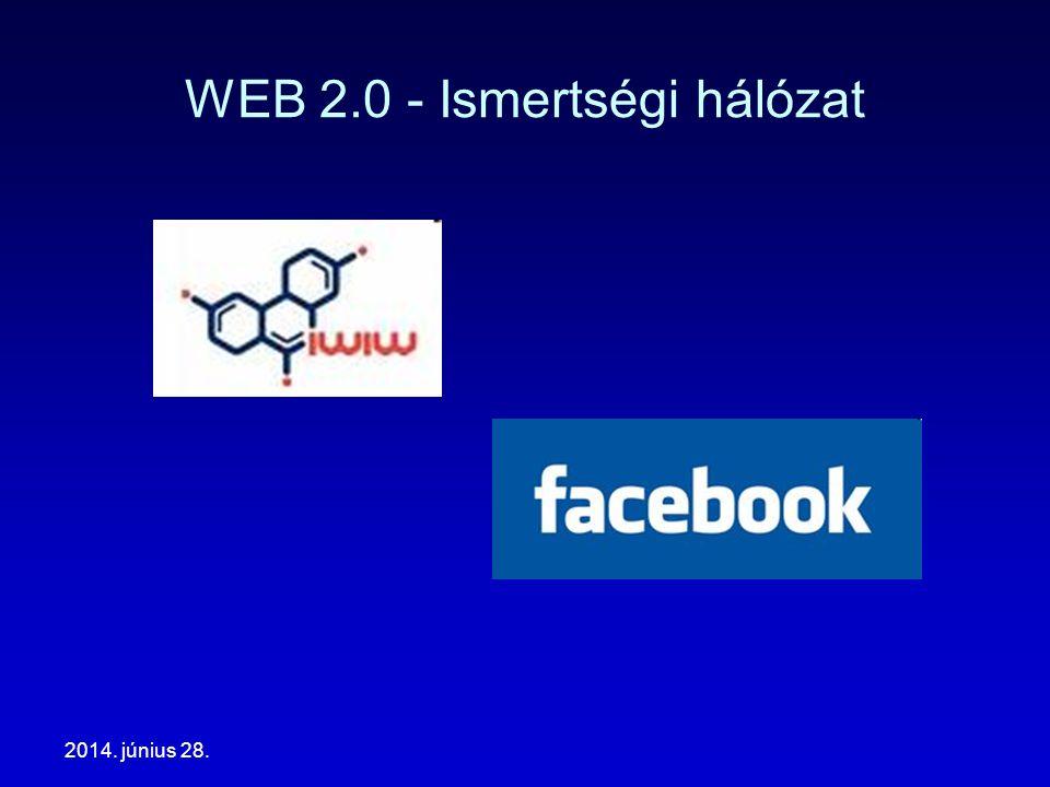 2014. június 28. WEB 2.0 - Ismertségi hálózat