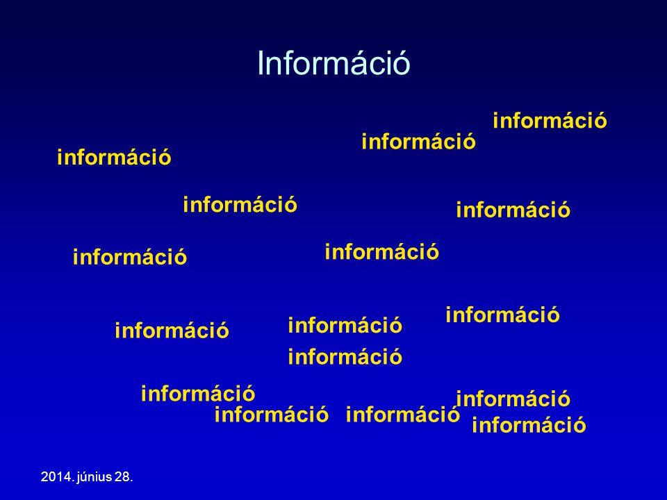 Információ információ