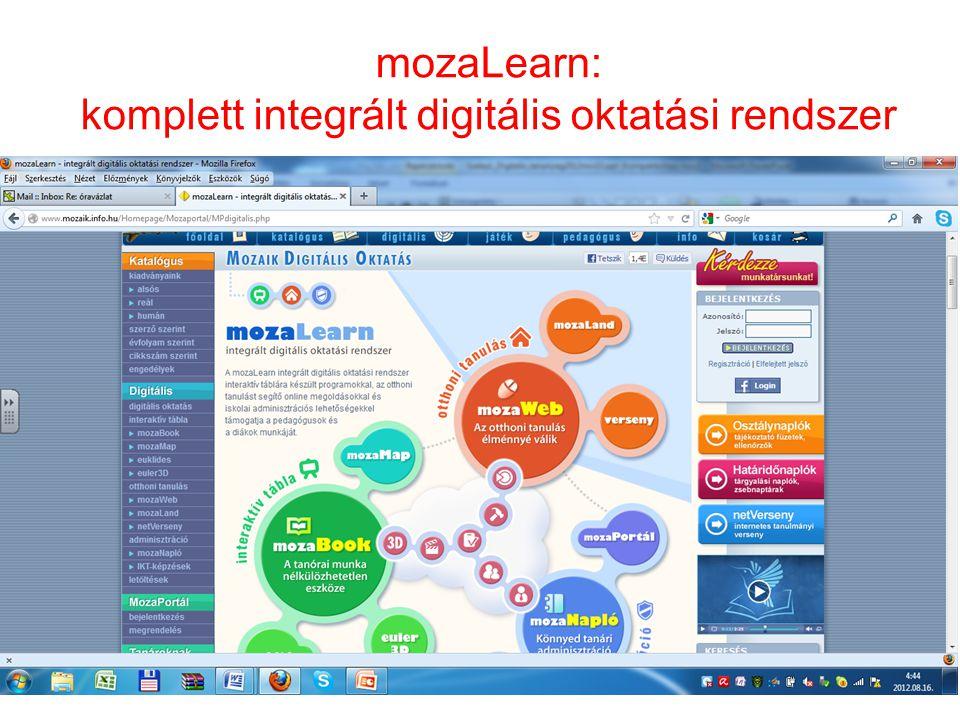 mozaLearn: komplett integrált digitális oktatási rendszer 24
