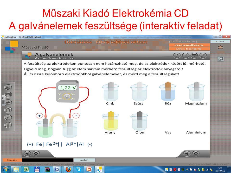 Műszaki Kiadó Elektrokémia CD A galvánelemek feszültsége (interaktív feladat) 28