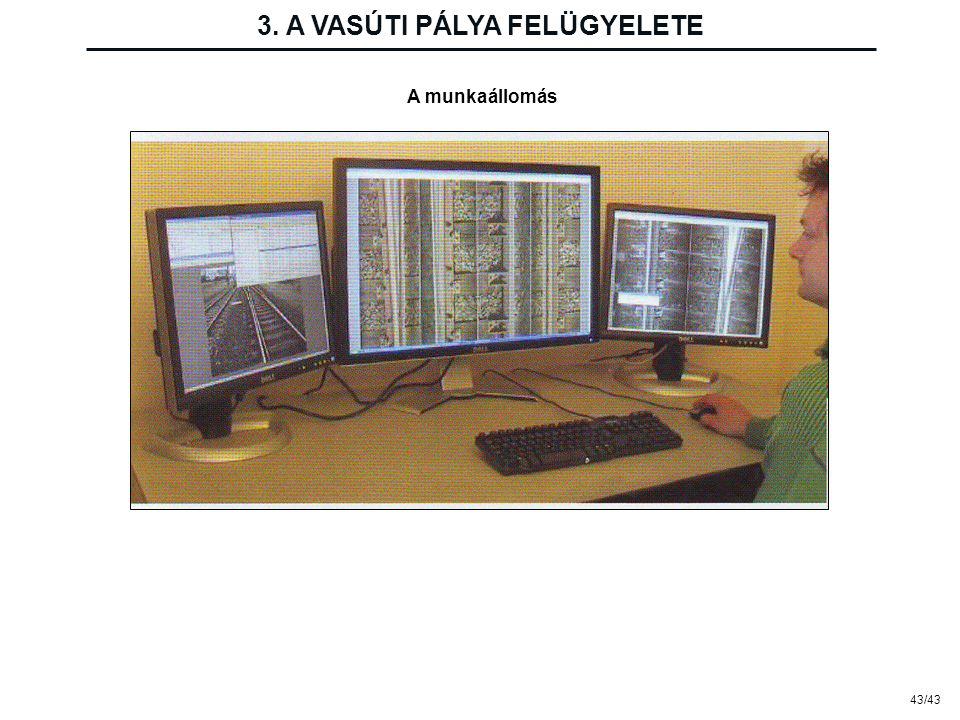 43/43 3. A VASÚTI PÁLYA FELÜGYELETE A munkaállomás