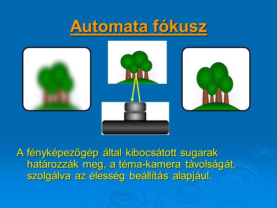 A rekesz és a megvilágítási idő szabályozása: Teljes automatika Manuális szabályozás lehetősége Teljes automatika A gyártók, lehetőséget adnak arra, h