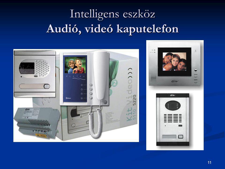 11 Intelligens eszköz Audió, videó kaputelefon