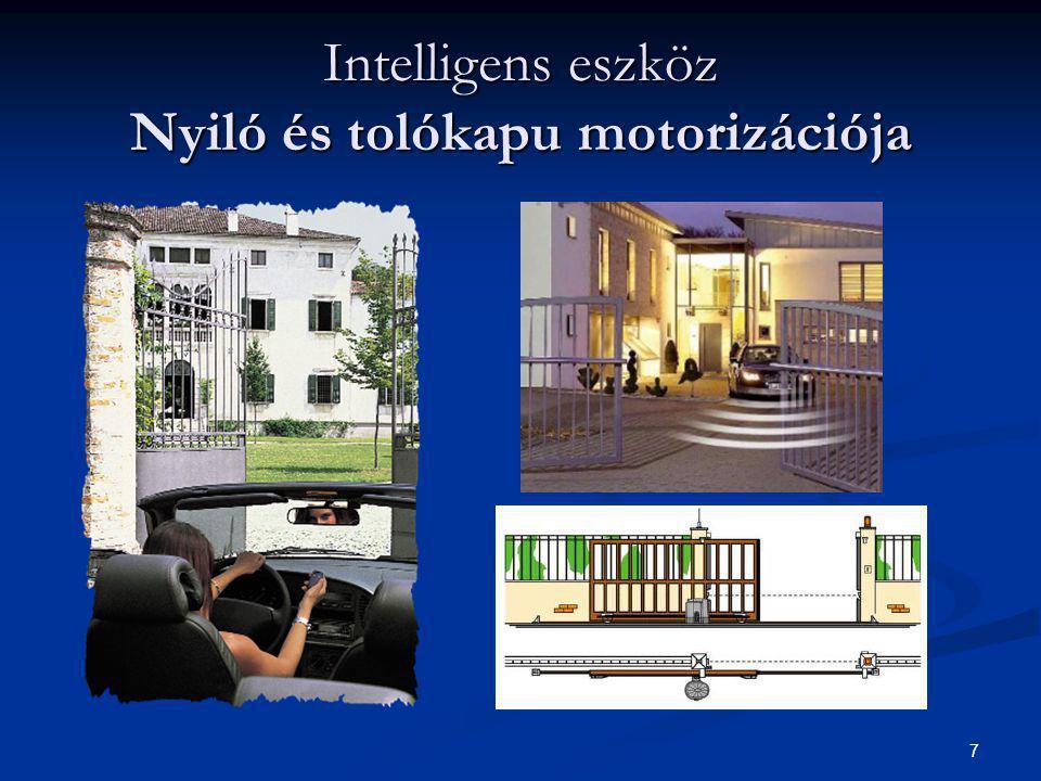 7 Intelligens eszköz Nyiló és tolókapu motorizációja