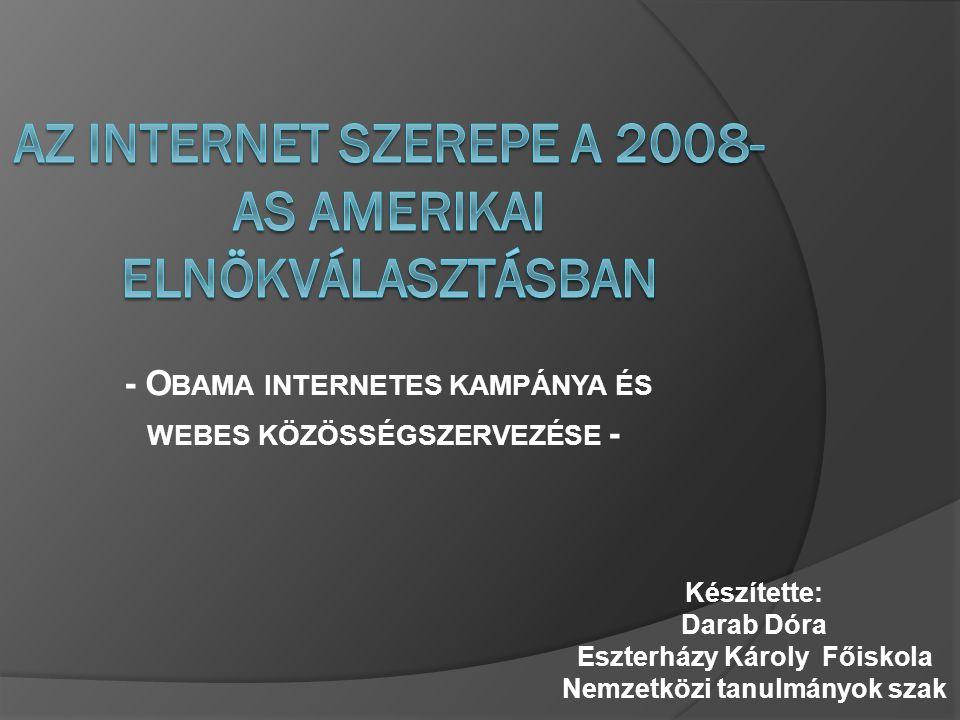 A Z INTERNET POLITIKÁBAN BETÖLTÖTT SZEREPE M AGYARORSZÁGON  Az internet penetráció Magyarországon: 56 %  A rendszeresen internetezők arányának változása életkor szerinti bontásban: Forrás: NRC Informationline