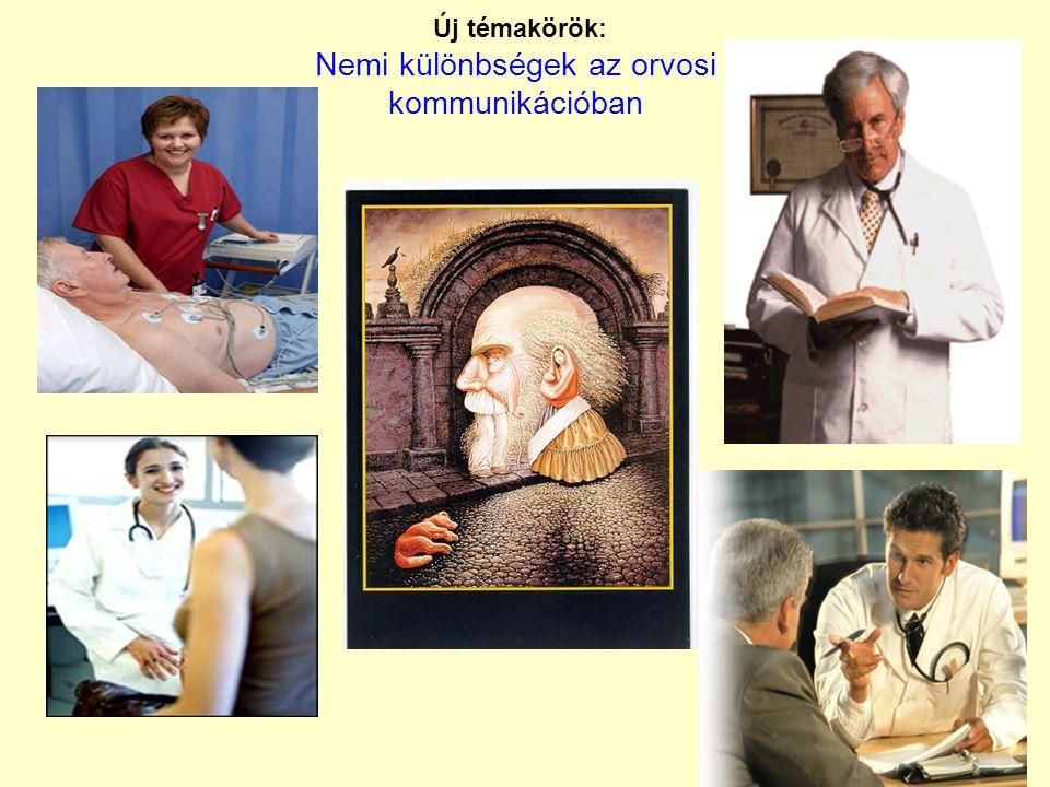 Új témakörök: Nemi különbségek az orvosi kommunikációban