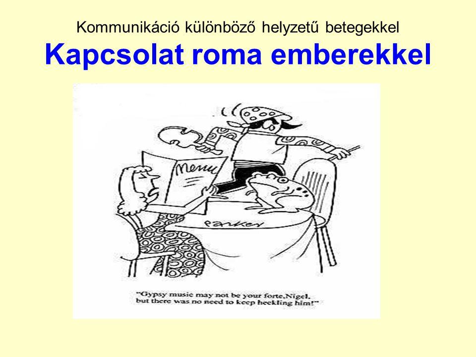 Kommunikáció különböző helyzetű betegekkel Kapcsolat roma emberekkel