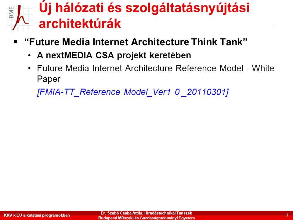 """Új hálózati és szolgáltatásnyújtási architektúrák  """"Future Media Internet Architecture Think Tank"""" •A nextMEDIA CSA projekt keretében •Future Media I"""