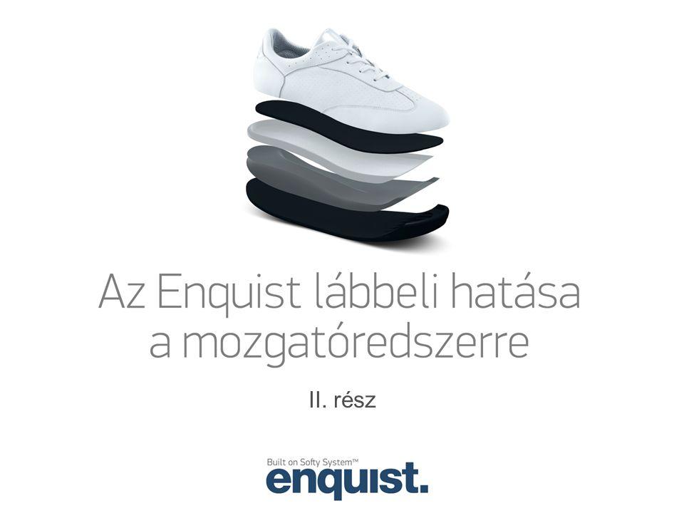 bokaízületi szögsebesség a támaszfázisban A bokaízületben létrejövő szögelfordulás sebessége átlagosan kisebb az Enquist cipő viselése közben és ez a különbség statisztikailag is jelentős.