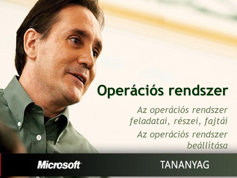 Operációs rendszer Az operációs rendszer feladatai, részei, fajtái Az operációs rendszer beállítása