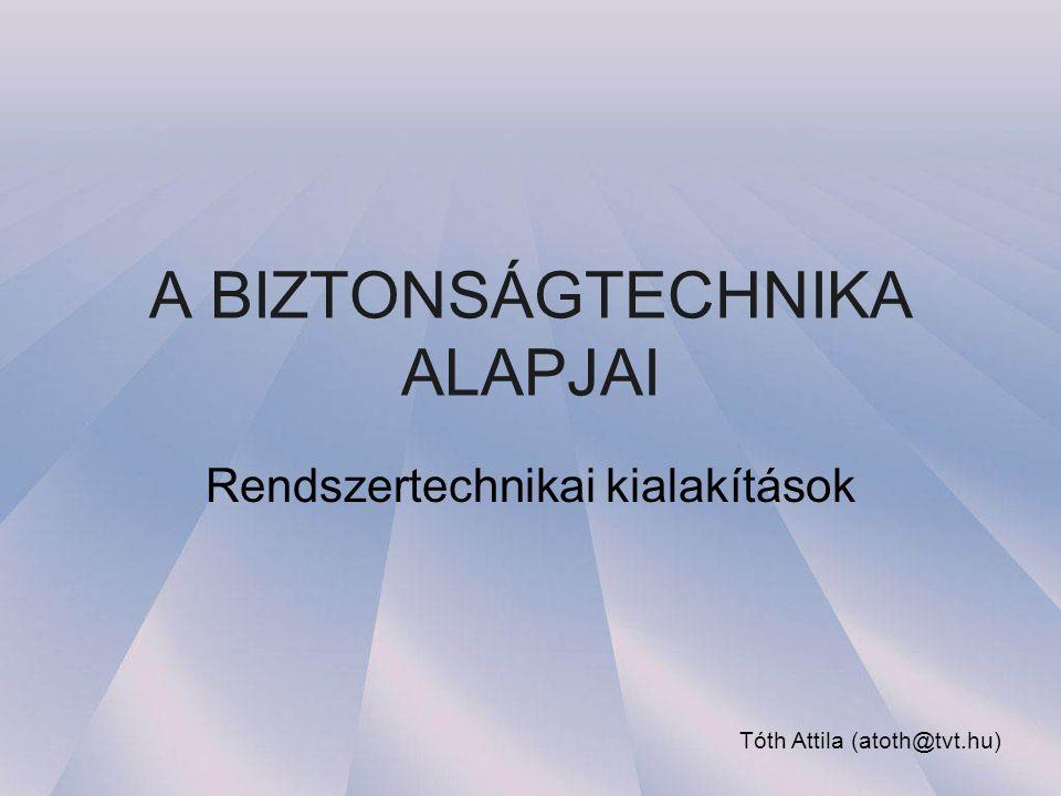 A BIZTONSÁGTECHNIKA ALAPJAI Rendszertechnikai kialakítások Tóth Attila (atoth@tvt.hu)