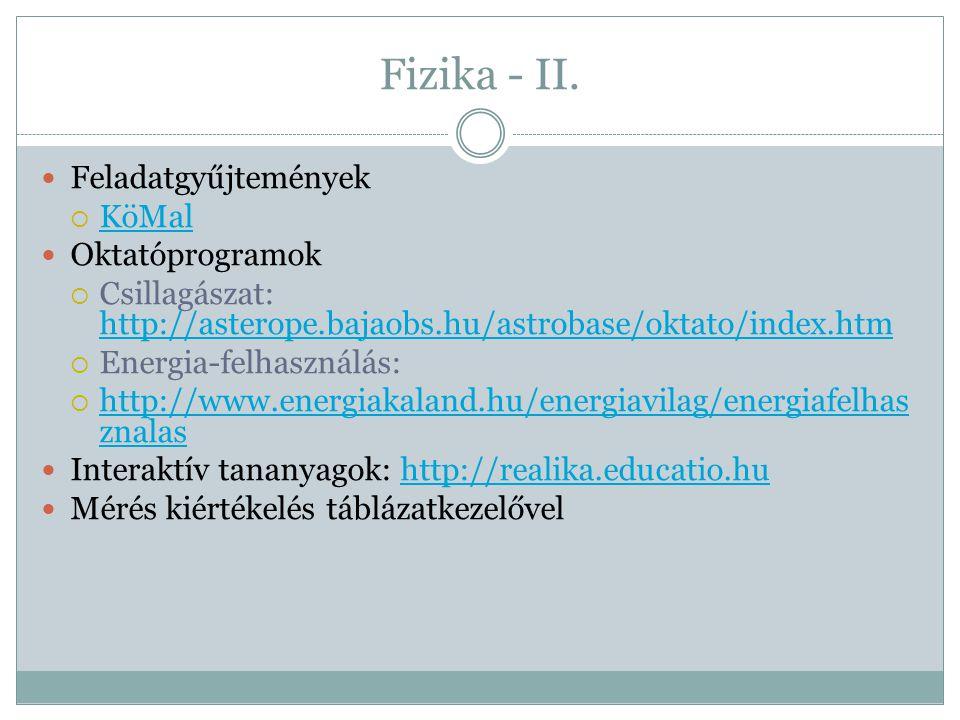 Fizika - II.