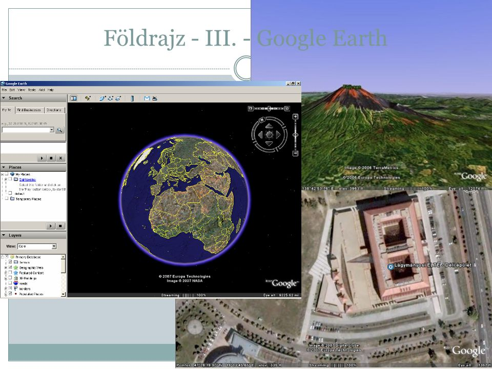 Földrajz - III. - Google Earth