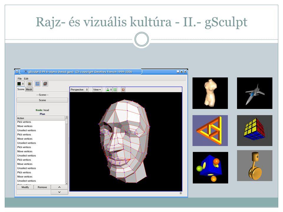 Rajz- és vizuális kultúra - II.- gSculpt