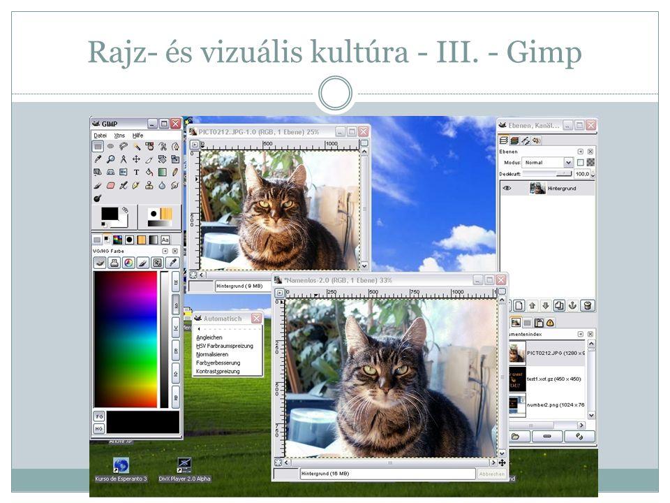 Rajz- és vizuális kultúra - III. - Gimp